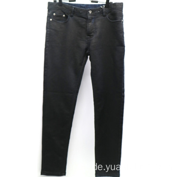 Fashion Coating Schwarz Slim Denim Herren Hose